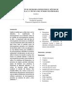 Cuantificación de Microorganismos Por El Método de Recuento en Placa y Técnica Del Número Más Probable