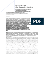 Educación neoliberal y quiebre educativo. Adriana Puiggrós