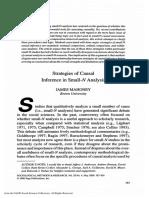 STRATEGIES OF CAUSAL (MAHONEY)