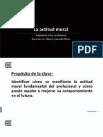 . La Actitud Moral
