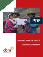 CBM Community Mental Health CMH - Implementation Guidelines