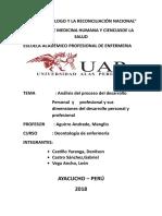 Análisis de Proceso Profesional y Personal