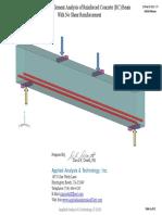 FEA Analysis Concrete Beam_No Shear Reinforcement_wAppendix