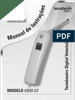 Manual termômetro veterinário Incoterm