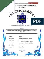 Monografia de Tecnología de Información y Comunicación en Farmacia