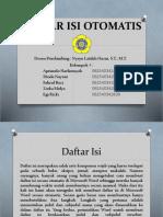 Daftar Isi Otomatis