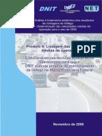 DNIT Listagem Das Velocidades Medias Convenio 00562007 p1 f3 Produto 6