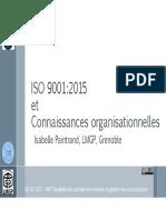 ISO 9001_2015 Et Connaissances Organisationnelles