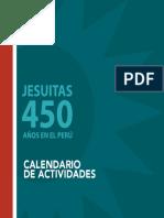 Calendario de actividades 450 Jesuitas