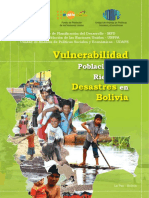 Estudio Vulnerabilidad de La Poblacion Boliviana 2015