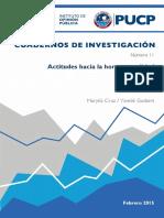 IOP_Actitudes Hacia La Homosexualidad en El Perú