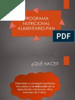 Programa Nutricional Alimentario PAN