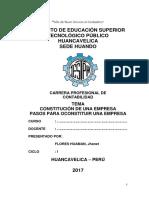 Constitución y Formalización de Empresa en El Perú Monografias