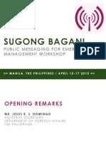 Day 1 Agenda Sugong Bagani Presentation
