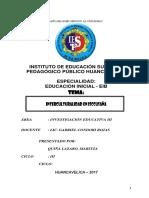 Interculturalidad en Iscucusana Yauli Monografia Pedagogico Identidad Personal