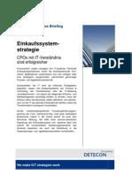 Einkaufssystemstrategie. CPOs mit IT-Verständnis sind erfolgreicher (Detecon Executive Briefing)