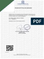 Certificado Abogado