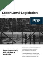 Labor Law & Legislation Week 1