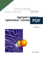 Aggregate Gradation Optimization -- Literature Search