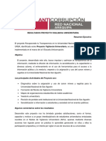 Resumen Ejecutivo Resultados Proyecto Vigilancia Universitaria 2011