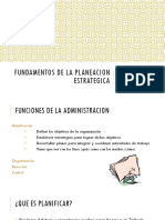 5. Fundamentos de La Planeacion Estrategica