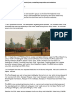 Tension flares up between Burma's junta, ceasefire groups after clash