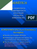 Codominância Letalidade Heredograma Polialelia PH P1