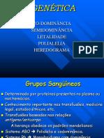 Codominância Letalidade Heredograma Polialelia PH P2