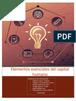 Elementos Esenciales Del Capital Humano