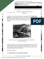 Resumen de La Primera Guerra Mundial - Adictos a La Historia