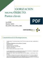 Recategorizacion Monotributo - Puntos Claves