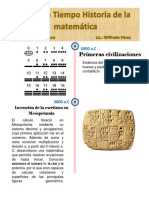 Linea de Tiempo historia de la matemática