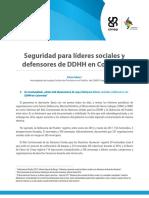 Seguridad Para Líderes Sociales y Defensores de Derechos Humanos