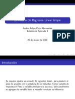 modelo regresion lineal