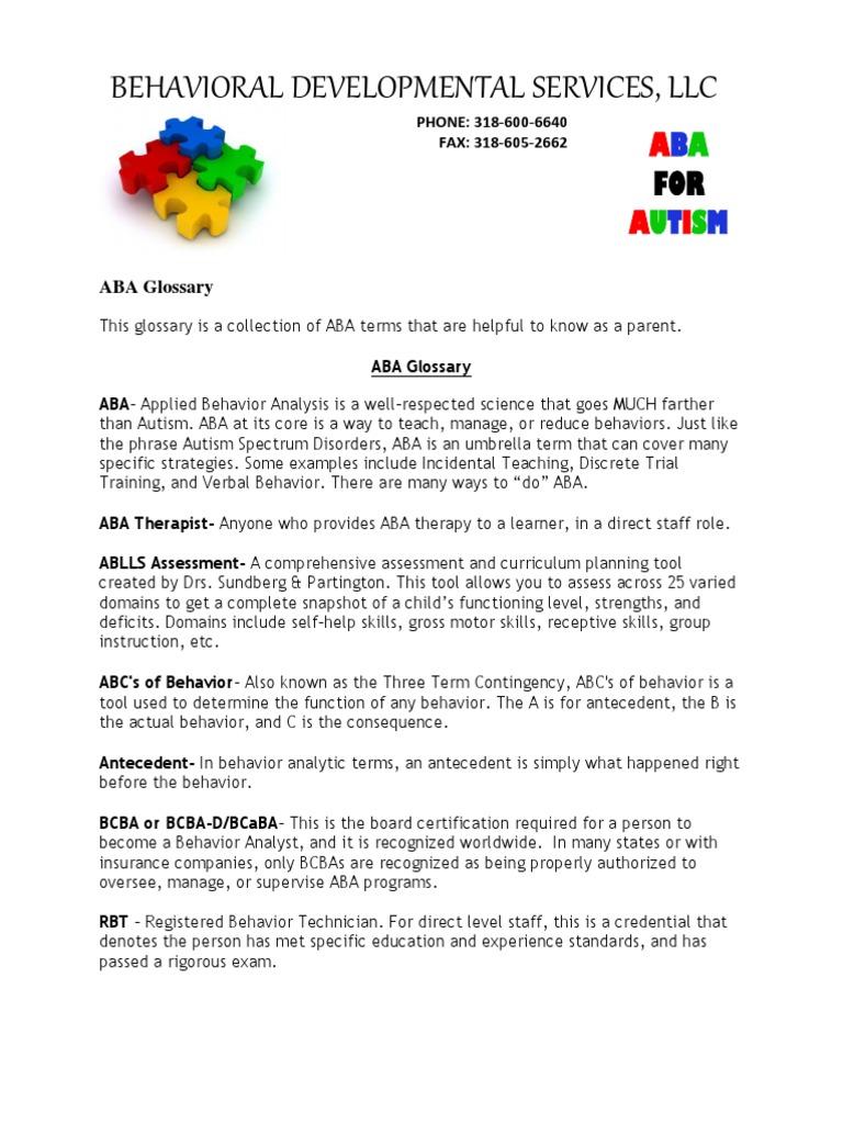 My ABA Glossary | Reinforcement | Neuropsychology
