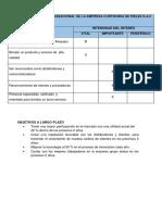 Matriz Del Interés Organizacional de La Empresa Curtiduria de Pieles s