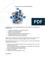 Asset Management Policies and Fixed Asset Registers