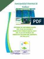 Informe de Implementacion Del Plan de Accion y Ejecucion Presupuestal 2017 Del PMRS (1)