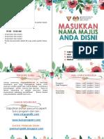 Buku Program Tema Floral