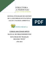 DocumentSlide.org-PETS-Procedimiento Escrito de Trabajo Seguro - 2013 RF-UTP