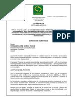 Acuerdo 014 de 2012
