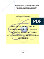 Análise da incerteza na representação de classes temáticas