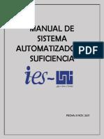 Manual de Sistema Automatizado de Suficiencia