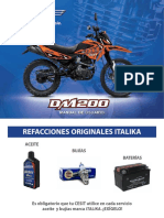 manual de usuario moto italika DM200