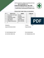 Kriteria 2.1.5 EP 6 Daftar Peralatan Yang Perlu Di Kalibrasi