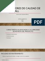 Factores de Calidad de McCall