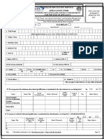 Application Form for JEST & ECT