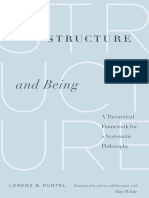 Structure and Being a Theoretical Framework for a Systematic Philosophy
