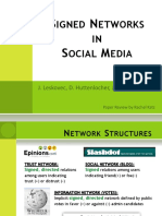 Signed Networks in Social Media