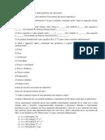 Lista de Exercício Mecânica dos fluidos
